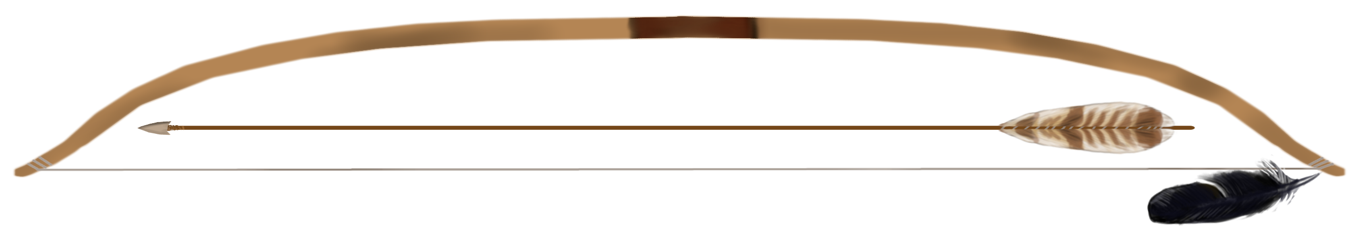 A Neolithic bow and arrow
