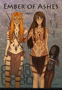 Ember of the Great River People stands firm with her bow in hand. Cover for Ember of a New World